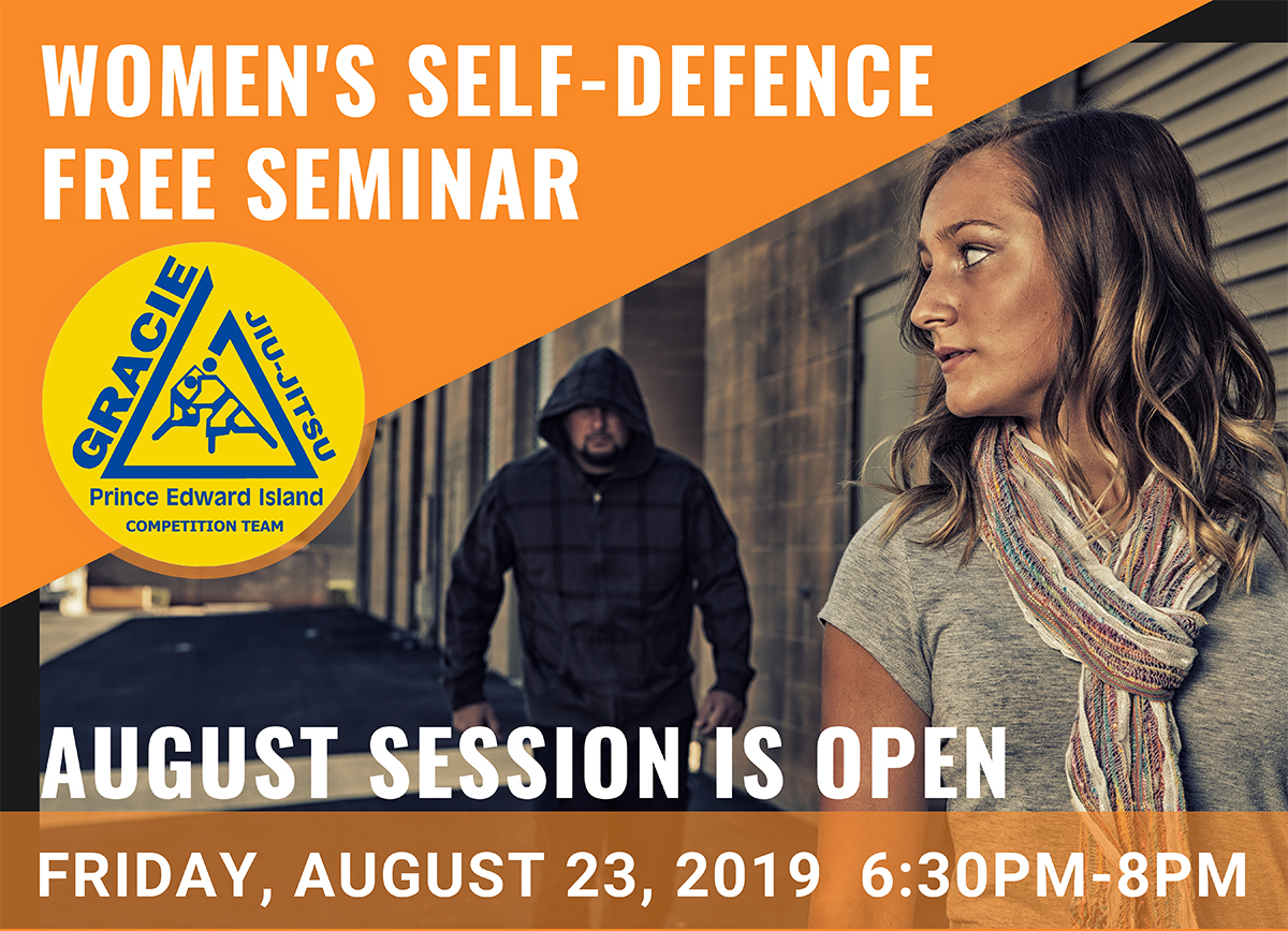 Women's Self-Defence FREE Seminar Gracie PEI